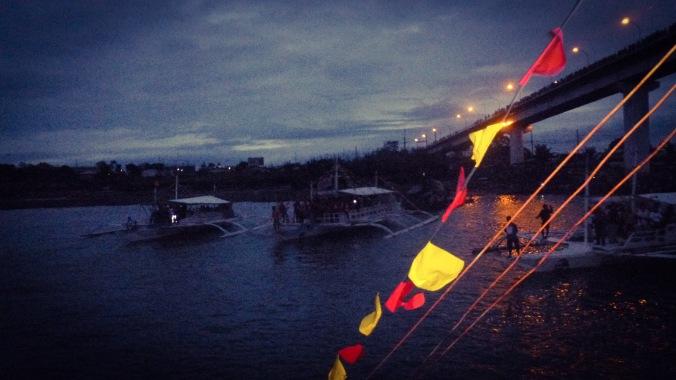 Sailing at dawn.