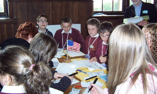Attending a Fair Trade conference, aged 13, at Ushaw College in September 2004.