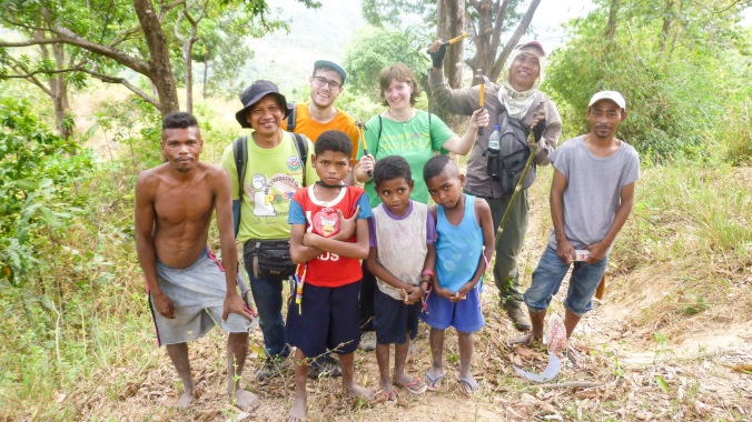 With the PREDA Fair Trade Team and the members of the indigenous communities. The mango farmer stands on the far left.