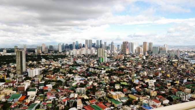 Looking out over Mandaluyong City, towards Makati City where we spent our day in Manila